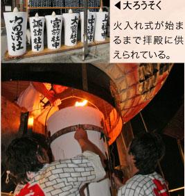 献燈祭(火入れ式)