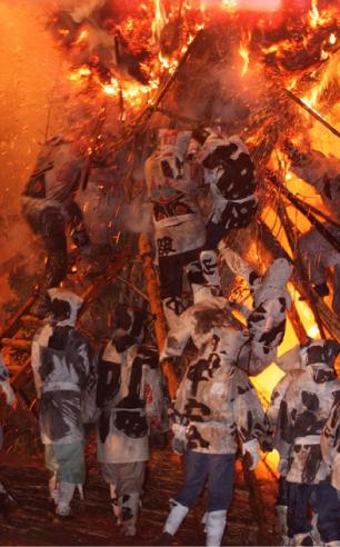 天下の奇祭 鳥羽の火祭り
