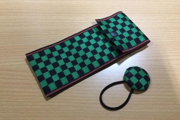 畳縁ペンケース 緑