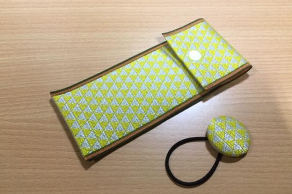 畳縁ペンケース 黄
